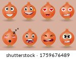 red onions cartoon with many... | Shutterstock .eps vector #1759676489