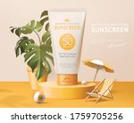 ad template for summer products ... | Shutterstock .eps vector #1759705256