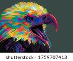 Colorful Eagle Illustration...