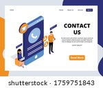 isometric landing page of... | Shutterstock .eps vector #1759751843