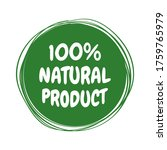 natural product label. made... | Shutterstock .eps vector #1759765979