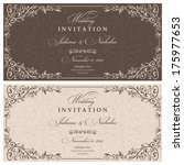 wedding invitation cards... | Shutterstock .eps vector #175977653