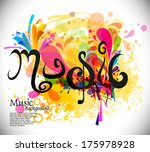 music theme background with...   Shutterstock .eps vector #175978928