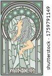 Winter Woman In Art Nouveau...