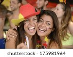 happy couple of girlfriends... | Shutterstock . vector #175981964