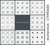 set of monochrome seamless... | Shutterstock .eps vector #175983683