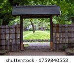 Wooden Gate In Traditional...