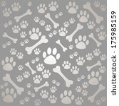 background with dog paw print... | Shutterstock . vector #175985159
