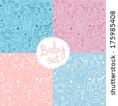 seamless baby pattern with cute ...