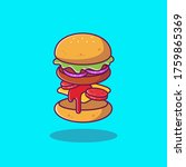 burger ingredients cartoon...