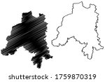 Clervaux canton (Grand Duchy of Luxembourg, Administrative divisions) map vector illustration, scribble sketch Clervaux map