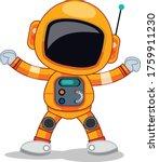 astronaut in space cartoon... | Shutterstock .eps vector #1759911230