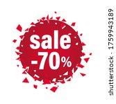70  off  sale design  broken... | Shutterstock .eps vector #1759943189