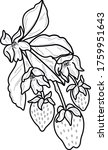 decorative strawberry food art... | Shutterstock .eps vector #1759951643