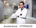 portrait of a young male doctor ... | Shutterstock . vector #175996520