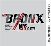 Design Graphic Vector Bronx...