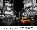 nyc yellow cabs | Shutterstock . vector #175998473