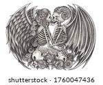 Lover Couple Fantasy Devil And...