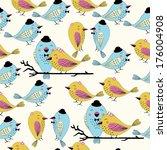 seamless love bird pattern... | Shutterstock .eps vector #176004908