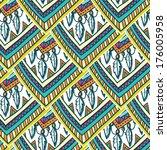 seamless romb ethno tribal... | Shutterstock .eps vector #176005958