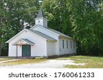 Small White Wooden Church In...