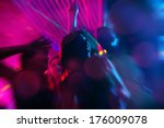 group of party people   men and ... | Shutterstock . vector #176009078