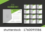 desk calendar 2021 template.... | Shutterstock .eps vector #1760095586