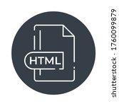 html icon. html file format...   Shutterstock .eps vector #1760099879