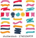 colorful ribbons and labels set ... | Shutterstock .eps vector #1760106959