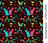 cute seamless pattern with...   Shutterstock .eps vector #176012954