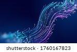 futuristic data stream vector... | Shutterstock .eps vector #1760167823