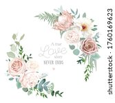 silver sage and blush pink... | Shutterstock .eps vector #1760169623