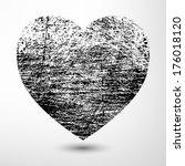 Valentine   Grunge Black Heart...