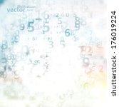 digital code background ... | Shutterstock .eps vector #176019224