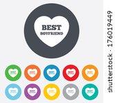 best boyfriend sign icon. heart ... | Shutterstock .eps vector #176019449