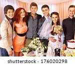 group people at wedding table... | Shutterstock . vector #176020298