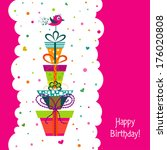 template greeting card  vector... | Shutterstock .eps vector #176020808