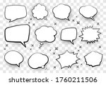 set of comic style speech... | Shutterstock .eps vector #1760211506