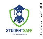 student safe vector logo... | Shutterstock .eps vector #1760245850