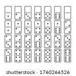 domino game. domino game.... | Shutterstock .eps vector #1760266526