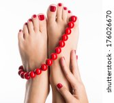 Closeup Photo Of A Female Feet...
