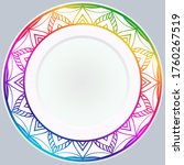 decorative plates for interior...   Shutterstock .eps vector #1760267519