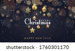 christmas background with... | Shutterstock .eps vector #1760301170