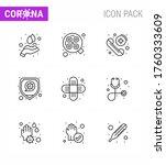 9 line corona virus pandemic... | Shutterstock .eps vector #1760333609
