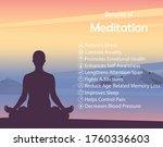 meditation health benefits for... | Shutterstock .eps vector #1760336603