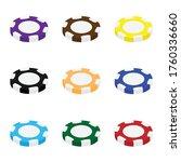 casino coins chip set isometric ... | Shutterstock .eps vector #1760336660