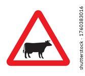 cattle crossing warning road...   Shutterstock .eps vector #1760383016