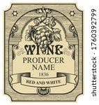 wine label with a bunch of...   Shutterstock .eps vector #1760392799