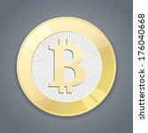 golgen bitcoin | Shutterstock .eps vector #176040668