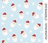 Light Blue Christmas Pattern ...
